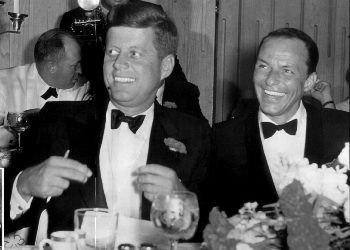 Frank Sinatra and President John F. Kennedy